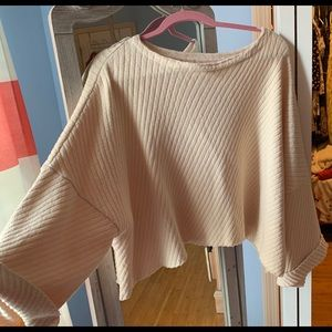 Free people oversized crop top sweater